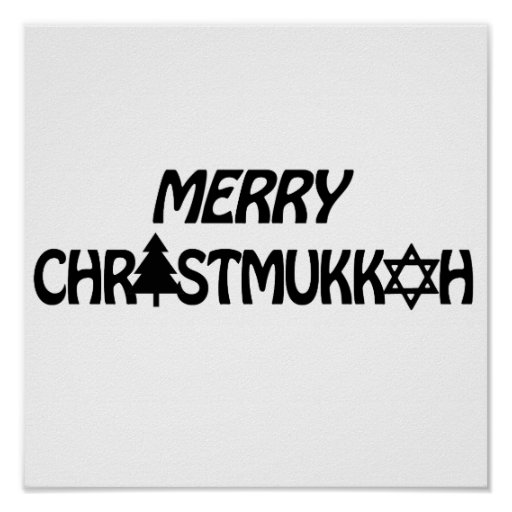MERRY CHRISTMUKKAH -.png Posters