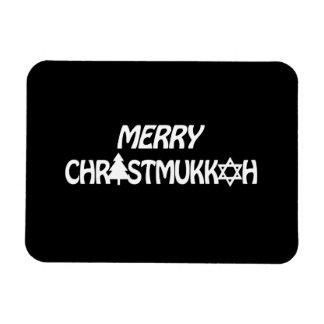 MERRY CHRISTMUKKAH -.png Rectangular Photo Magnet