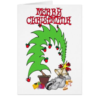 Merry Christmunk Card