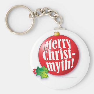 Merry Christmyth! Basic Round Button Keychain