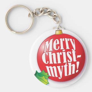 Merry Christmyth! Basic Round Button Keychain