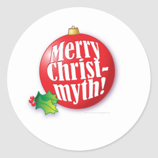 Merry Christmyth! Classic Round Sticker
