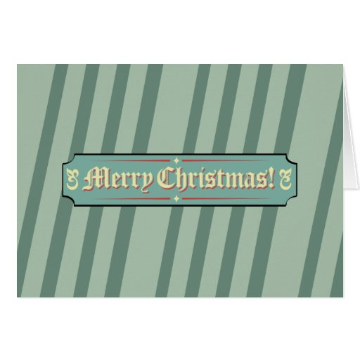 Merry Christnas Sign Greeting Card