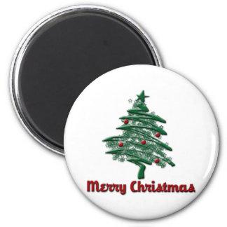 Merry Chrsitmas 2 Inch Round Magnet