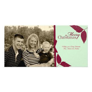 Merry Chrsitmas Ribbon Photo Card