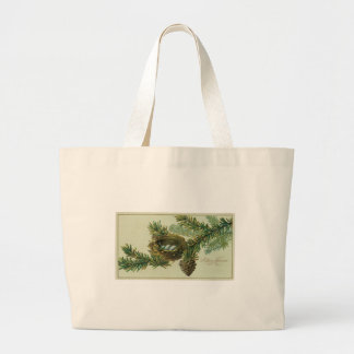 Merry Chrsitmas - Vintage Greeting Card Tote Bag