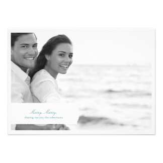 Merry Classic Holiday Photo Card Personalized Invitation