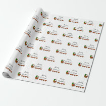 Merry Cluckmas! Santa And Chickens Wrapping Paper