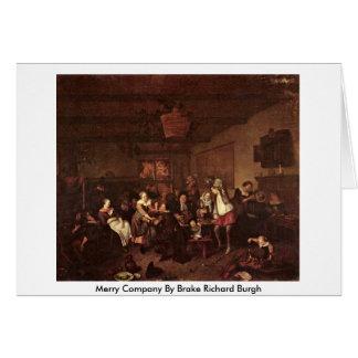 Merry Company By Brake Richard Burgh Greeting Card