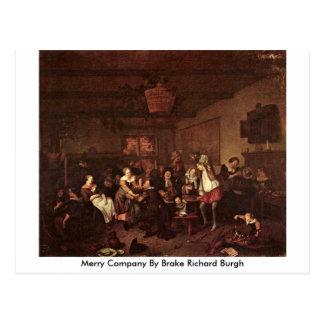 Merry Company By Brake Richard Burgh Postcard