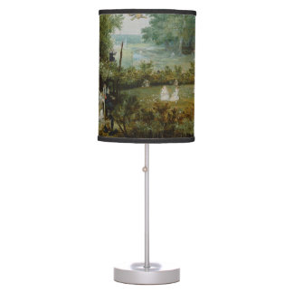 Merry Company in an Arbor Oil Painting Desk Lamp