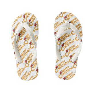 MERRY COOKIE CHRISTMAS Pair of Flip Flops