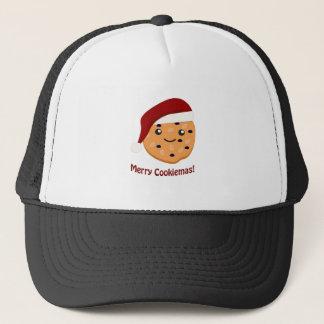 Merry Cookiemas Christmas Cookie Trucker Hat