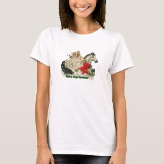 """Merry Corgi Christmas!"" Corgi & Pony T-Shirt"