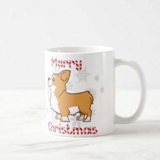 Merry Corgi Christmas Mug