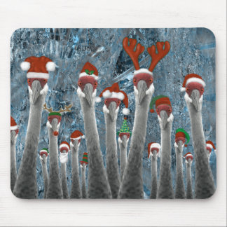 Merry Cranes Among Us Mouse Pad