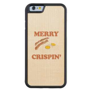 Merry Crispin - Holiday Humor Carved® Maple iPhone 6 Bumper