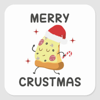 Merry Crustmas Square Sticker