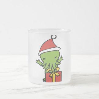 Merry Cthulmas Frosted Glass Coffee Mug