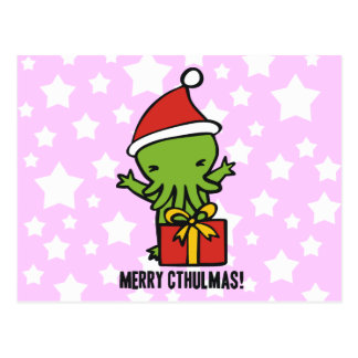 Merry Cthulmas Postcard