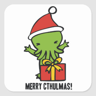 Merry Cthulmas Square Sticker