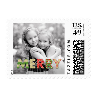 Merry Cutouts Christmas Holiday Postage