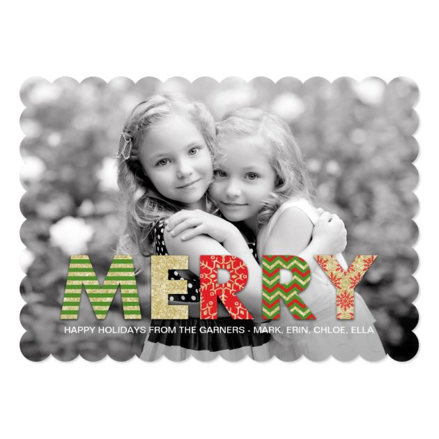 Merry Cutouts Holiday Photo Cards
