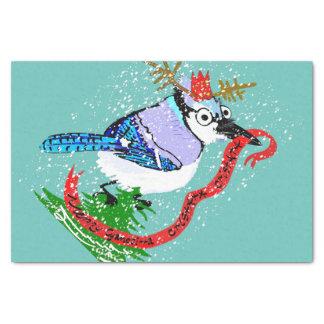 Merry Cyanocitta Cristatamas Tissue Paper! Tissue Paper