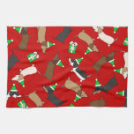 Merry Dachshunds Kitchen Towels
