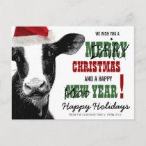 Merry Dairy Christmas Holiday Postcard