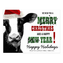 Merry Dairy Christmas Postcard
