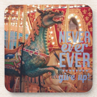 Merry Dragon Never Give Up Coasters