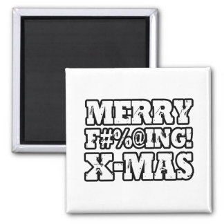 MERRY EFFING XMAS -.png 2 Inch Square Magnet