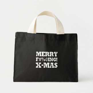 MERRY EFFING XMAS -.png Mini Tote Bag