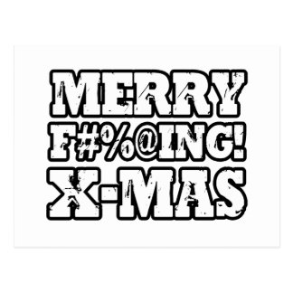 MERRY EFFING XMAS -.png Postcard