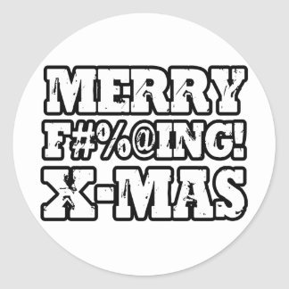 MERRY EFFING XMAS -.png Stickers