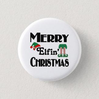 Merry Elfin' Christmas Button