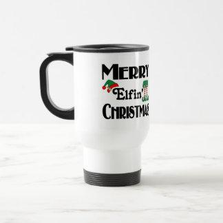 Merry Elfin' Christmas Travel Mug
