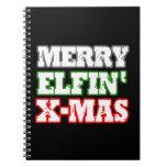 MERRY ELFIN XMAS NOTE BOOKS