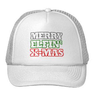 MERRY ELFIN XMAS -.png Trucker Hat