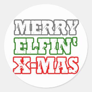 MERRY ELFIN XMAS -.png Stickers