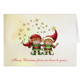 Merry Elves Christmas Greeting Card
