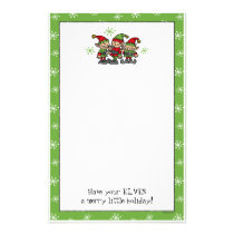 Merry Elves Custom Christmas Stationery