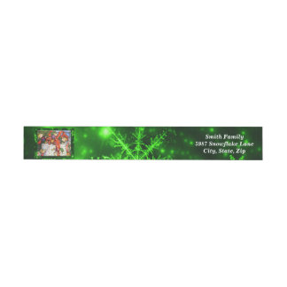 Merry Elves Wrapping Present Around Address Labels