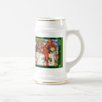 Merry Elves Wrapping Present Stein 18 Oz Beer Stein