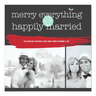 Merry Everything 1st Christmas Photo Collage Card