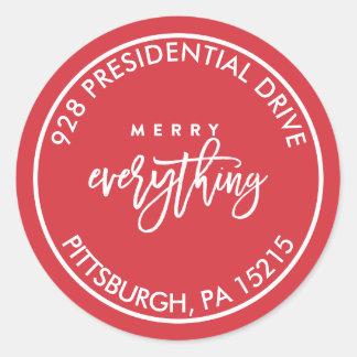 Merry Everything Address Label Sticker