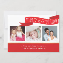 MERRY EVERYTHING BANNER 3 photo instagram squares Holiday Card