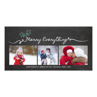 Merry Everything Chalkboard Holiday Photo Card