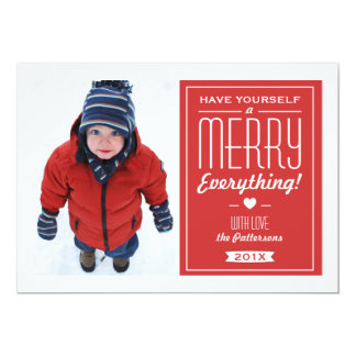 Merry Everything Christmas Greeting Photo Card